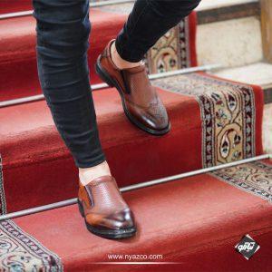 خرید کفش چرم دستدوز مردانه کو
