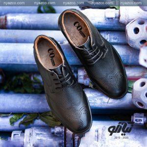 کفش بندی مردانه مدل کو چرم تبریز