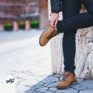 کفش اسپورت چرم لسکون