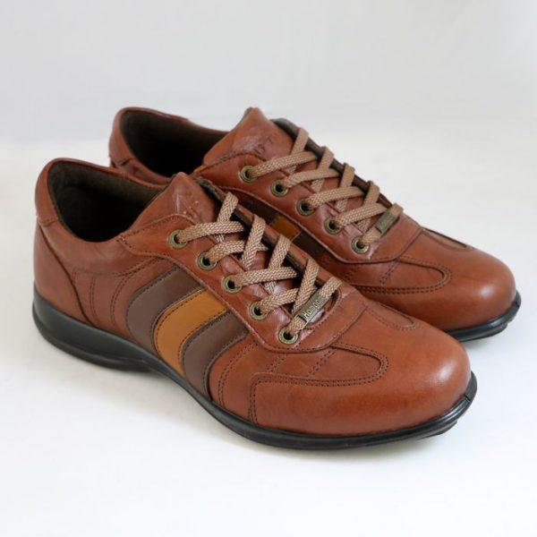 کفش اسپرت اسکوتر 3خط عسلی