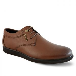کفش چرم مردانه ترافیک بندی عسلی