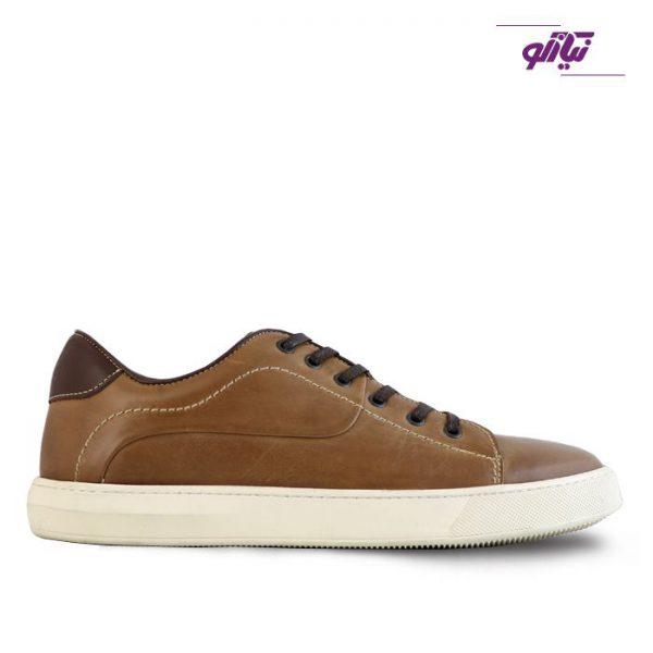 کفش اسپرت چرم مردانه جیسی مدل ونس رنگ شکلاتی
