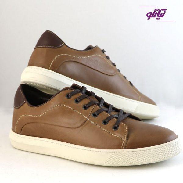 کفش اسپورت تمام چرم مردانه جیسی مدل ونس رنگ شکلاتی