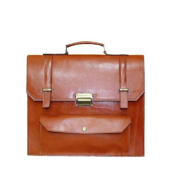 خرید کیف دیپلمات چرم لوک مدل هور رنگ عسلی