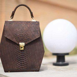 خرید آنلاین کیف دستی زنانه چرم لوک مدل دلناز ۷