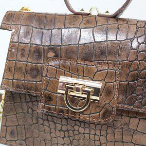 خرید کیف دوشی زنانه چرم لوک مدل 1400 از نیازکو