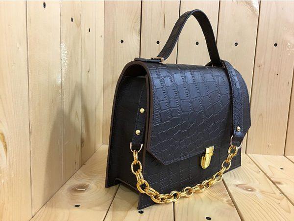 خرید کیف دوشی زنانه چرم لوک مدل نگین از سایت نیازکو