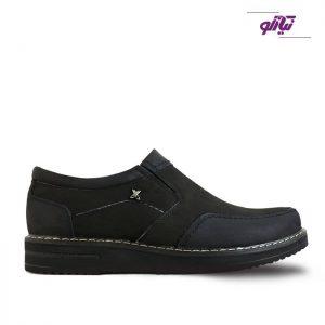 خرید کفش روزمره چرم مردانه تبریز مدل پرشین رنگ مشکی از نیازکو