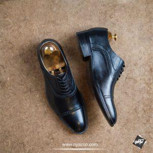 خرید کفش رسمی مردانه نعمتی مدل سامان کد 124 رنگ مشکی