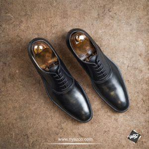 خرید کفش چرم رسمی مردانه نعمتی مدل سانتوس کد 27