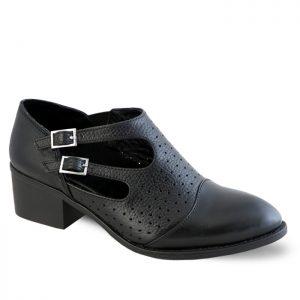 کفش چرم پاشنه دار زنانه راینو چرم کد 185