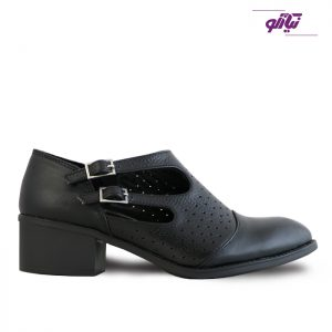 خرید کفش چرم پاشنه دار زنانه راینو چرم کد 185