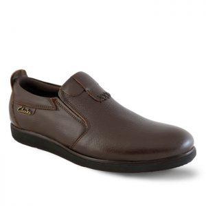 کفش رسمی مردانه تبریز مدل ترافیک کد 212 رنگ قهوهای
