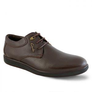 کفش رسمی مردانه تبریز مدل ترافیک بندی کد 204 رنگ قهوهای