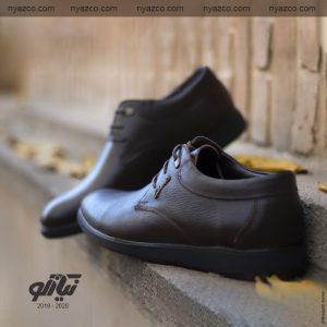 خرید کفش رسمی مردانه تبریز مدل ترافیک بندی کد 204 رنگ قهوهای