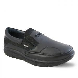 کفش چرم راحتی طبی مردانه فرزین مدل ونتوسا رنگ مشکی