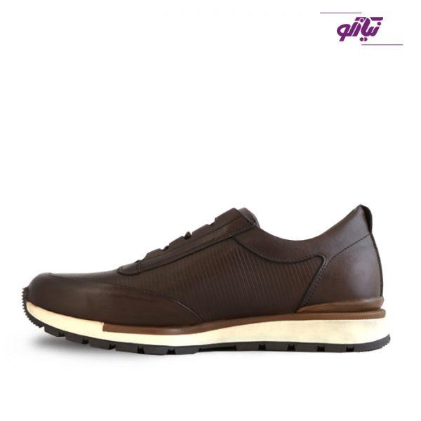 خرید کفش اسپرت مردانه جی سی مدل رابرتو جدید رنگ قهوهای از نیازکو