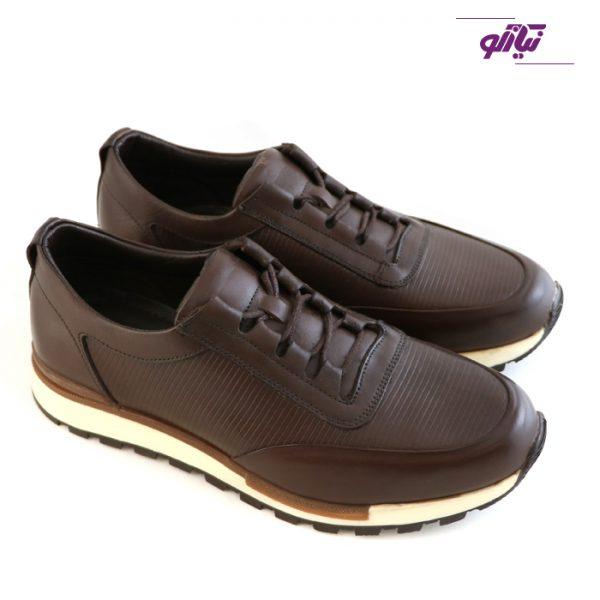 خرید اینترنتی کفش اسپرت مردانه جی سی مدل رابرتو جدید رنگ قهوهای