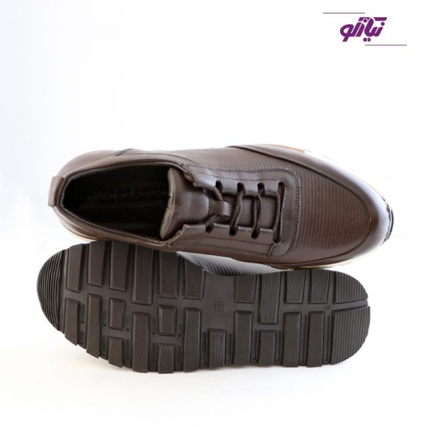 خرید اینترنتی کفش اسپرت مردانه جی سی مدل رابرتو جدید رنگ قهوهای از نیازکو