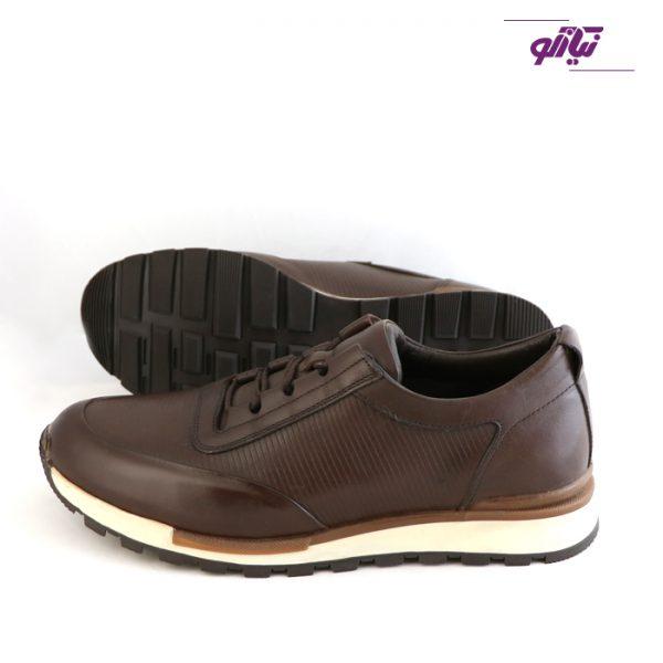 خرید اینترنتی کفش اسپرت مردانه جی سی مدل رابرتو جدید رنگ قهوهای از سایت نیازکو