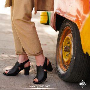 کفش پاشنه دار چرم راینو تبریز