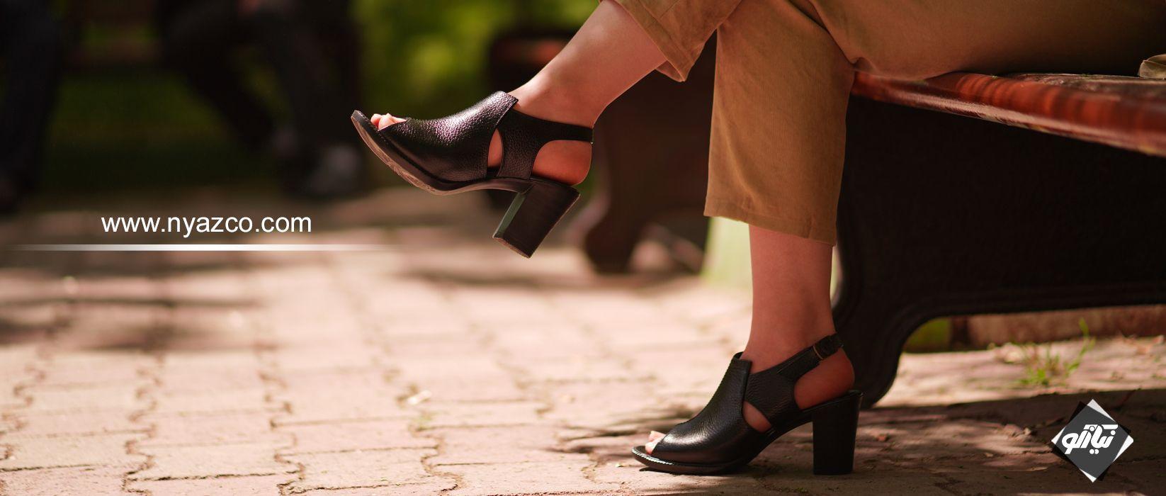 خرید کفش پاشنه دار چرم تبریز