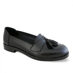 کفش چرم راحتی زنانه راینو چرم کد 101 رنگ مشکی
