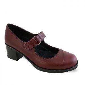 کفش چرم پاشنه دار زنانه راینو چرم کد 150