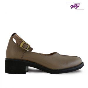 خرید کفش چرم پاشنه دار زنانه راینو چرم کد 61