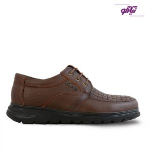 خرید کفش چرم مردانه تبریز مدل رونیز طرح کلارک رنگ قهوهای