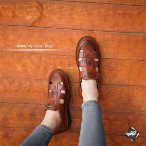 کفش چرم تابستانی شیک تبریز