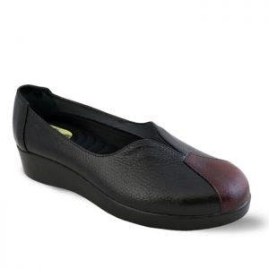 کفش چرم راحتی زنانه راینو چرم کد 107 رنگ مشکی
