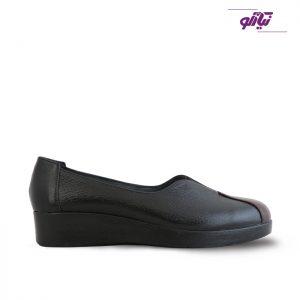 خرید کفش چرم راحتی زنانه راینو چرم کد 107 رنگ مشکی