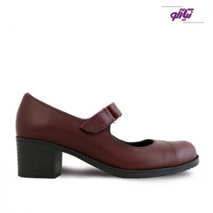 خرید کفش چرم پاشنه دار زنانه راینو چرم کد 150