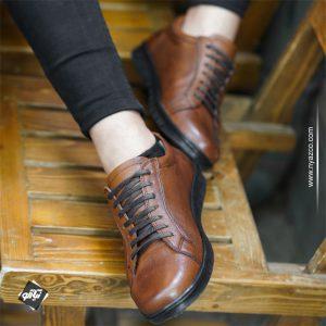 کفش چرم مردانه اسپورت بیسا