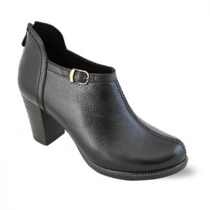 کفش چرم پاشنه دار زنانه راینو چرم کد 20 رنگ مشکی