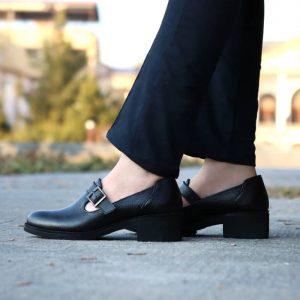 کفش چرم زنانه راینو مدل بهار کد B165