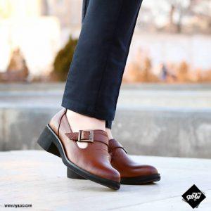 کفش چرم زنانه راینو مدل بهار کد C165