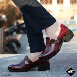 خرید کفش چرم زنانه راینو مدل بهار کد Z165