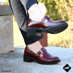 کفش چرم زنانه راینو مدل بهار کد Z165