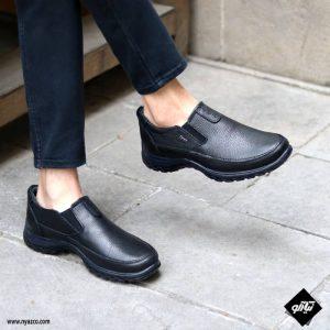 کفش چرم طبی مردانه فرزین مدل سیام