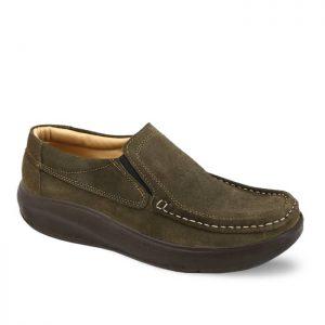 کفش روزمره مردانه تبریز مدل پرفکت رنگ خاکی