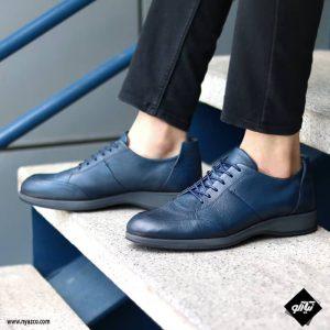 کفش رسمی مردانه شمس مدل V8 رنگ سرمه ای