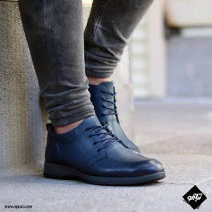 خرید کفش رسمی مردانه شمس مدل V9 رنگ سرمه ای