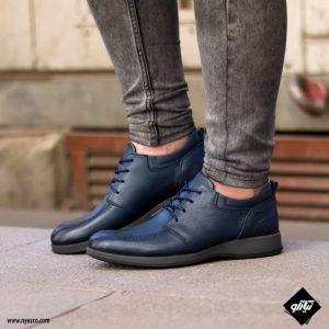 کفش رسمی مردانه شمس مدل V9 رنگ سرمه ای