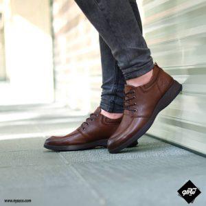 خرید کفش رسمی مردانه شمس مدل V9 رنگ گردویی