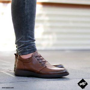 کفش رسمی مردانه شمس مدل V9 رنگ گردویی