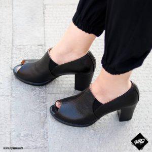 خرید کفش پاشنه دار زنانه راینو چرم کد 227
