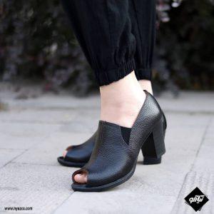 کفش پاشنه دار زنانه راینو چرم کد 227