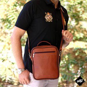 کیف دوشی مردانه میشو چرم مدل آلپ